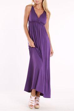 La Class Calliope Casual Maxi Dress In Purple - Beyond the Rack