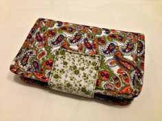 Paisley Design Women's Handmade Fabric Wallet by designedbyEzgi