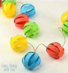 Színes papír gömb füzér egyszerűen - buli dekoráció / Mindy - kreatív ötletek és dekorációk minden napra
