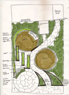 base plan roof terrace garden design idea Garden Zen Chi