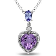 I'd love to have my bridal party wear this and the matching earings and ring on the day of the wedding. They sell them at JCpenny. However, these are real amethyst, diamonds and tanzenite..Ranging between $65-$100 a piece I think. So I'd like to maybe find a nice costume version of this set. ~G   Amethyst Pendant, Heart Tanzanite Diamond Accents