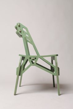stack and frame puzzle furniture. made on a CNC router; no glue or tools required for assembly. by Konstantin Achkov