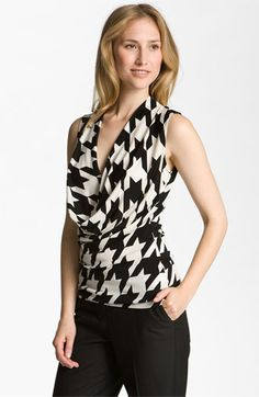 I think this one will have to be tried on in-person. #cowlnecks usually work for me, but large patterns dont. But I love classic #houndstooth ...