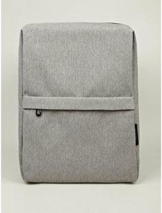 The Cote Rhine Flat Eco-Yarn 15-Inch Laptop Backpack in grey.