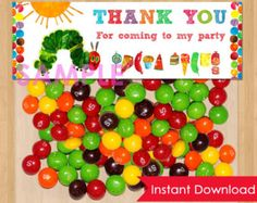 Very Hungry Caterpillar Favor Bags Toppers