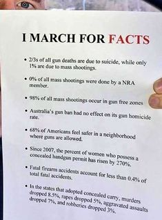 "ClintonMSix14 on Twitter: ""I March For Facts!! #GunControlNow #MarchForOurLives… """