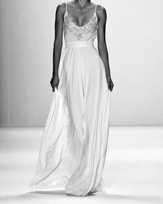 Just an idea for bridesmaids dresses. Perhaps not cut so low but I like the waist line and the length