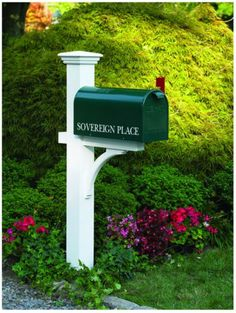 Cedar Mailbox Post Stand Wood White Mail Newspaper Outdoor Rural Stained