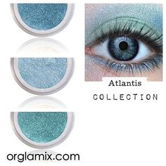 Eyeshadow Kit Palette   ATLANTIS   Mix - Match - Layer   Natural Mineral Eye Colors   Natural Eco Pure Organic Better Than MAC Cosmetics by orglamix