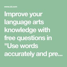 """Improve your language arts knowledge with free questions in """"Use words accurately and precisely"""" and thousands of other language arts skills. Short I Words, E Words, Number Words, Similes And Metaphors, Multiple Meaning Words, Idiomatic Expressions, Kindergarten Language Arts, Kindergarten Writing, Figure Of Speech"""