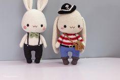 Crochet Doll Pattern, Crochet Bunny, Crochet Toys Patterns, Amigurumi Patterns, Stuffed Toys Patterns, Doll Patterns, Crochet Ideas, Teddy Bear Crafts, Diy Jewelry Unique