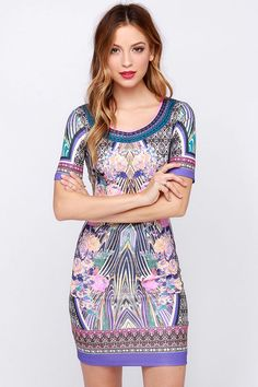 Taj Ma-Hollaback Girl Mirror Print Dress at Lulus.com!
