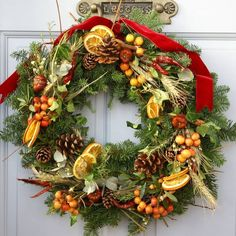 """rustic english country christmas   Rustic Country"""" Fresh Scented Christmas Wreath   DOOR WREATHS"""