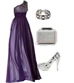 15 Polyvore Combinations for Graceful Ladies: Violet Beauty.. luv it all!  Shown @ prettydesigns.com