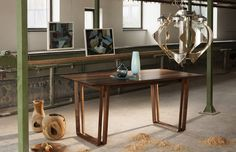 Solid Wood, Entryway Tables, Dining Table, Furniture, Home Decor, Lunch Room, Table, Wood, Dining Room Table