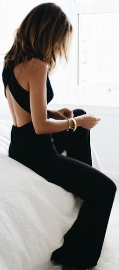 295163e5d8 27 Awesome Pieces Of Clothing That ll Never Go Out Of Style Black Jumpsuit  Outfit