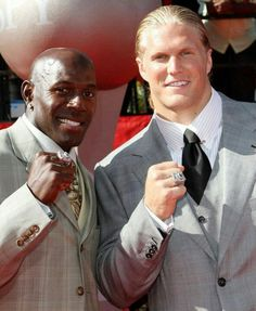 Donald Driver and Clay Matthews - two of the nicest men in the NFL