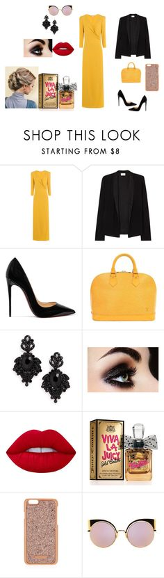 """Untitled #52"" by elma-alibasic ❤ liked on Polyvore featuring Vanessa Bruno, American Vintage, Christian Louboutin, Louis Vuitton, Tasha, Lime Crime, Juicy Couture, Henri Bendel and Fendi"