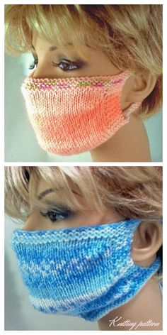 10 Knit Face Mask Free Knitting Patterns and Paid – Knitting Pattern – Patricia L. Sweater Knitting Patterns, Easy Knitting, Knitting Stitches, Knitting Socks, Beginner Knitting Patterns, Crochet Patterns, Crochet Mask, Crochet Faces, Crochet Braid