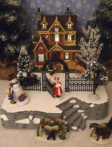Dept 56 All Around The Park Animated Christmas Snow Village 52477 Lemax