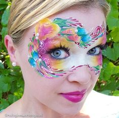 Floral colourful mask