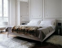 bed and walls