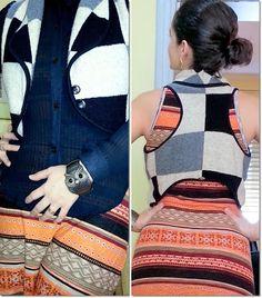 blog v@ LOOKS | por leila diniz: Estampa ÉTNICA no longo HERING. Camisa PLISSADA. Colete e CORUJA no look do dia + DEUS