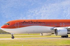 Australian Airlines 767-300 Australian Airlines, Let's Have Fun, Spacecraft, Military Aircraft, Airplanes, Funeral, Aviation, Commercial, Sporty