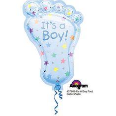 It's a Boy Foot Shaped Mylar Balloon