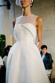 The Lela Rose Fall 2017 Bridal Collection New York Bridal Fashion Week 2016 White Bridal Dresses, Little White Dresses, Bridal Gowns, Bride Dresses, Event Dresses, Lela Rose, 2017 Bridal, Bridesmaid Outfit, New Shape