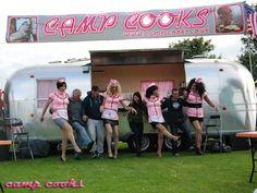 Camp cooks food van