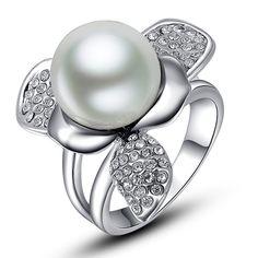 Zinc #Alloy #Finger #Ring, nice #flower #design http://www.beads.us/product/Zinc-Alloy-Finger-Ring_p195231.html?Utm_rid=219754
