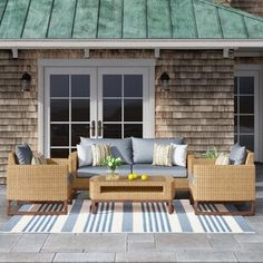 Sol 72 Outdoor™ Merlyn 11 Piece Sectional Seating Group with Cushions | Wayfair Pool Floats For Adults, Outdoor Seating, Outdoor Decor, Backyard, Patio, Club Chairs, Coastal Decor, Homemade Lemonade