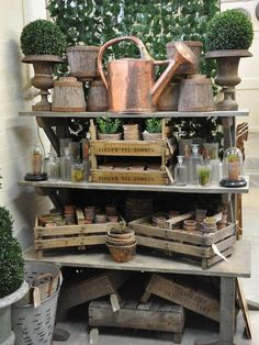 Lilypond ~ Garden vintage add neutrals and crates to green