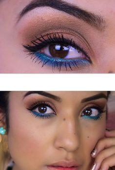 Blue eyeliner summer