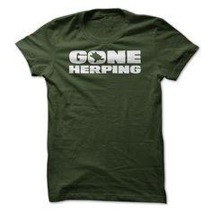 (Top Tshirt Discount) Gone Herping Herpetologist T Shirt [Tshirt design] Hoodies, Funny Tee Shirts