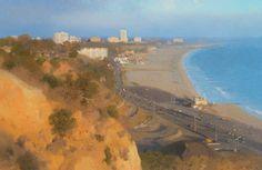 "Ann Lofquist Palisades South View II, 2014 oil on canvas 24 x 37"" Courtesy of Ann Lofquist and Craig Krull Gallery, Santa Monica, California."