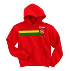 Portugal Football World Cup Childrens Boys/Girls Retro Vintage Strip Hoodie available at http://www.world-cup-products-worldwide.com/portugal-football-world-cup-childrens-strip-hoodie/