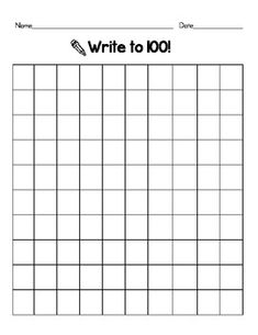 Blank Number Grid Worksheet | Free Printable Math Worksheets - Mibb ...