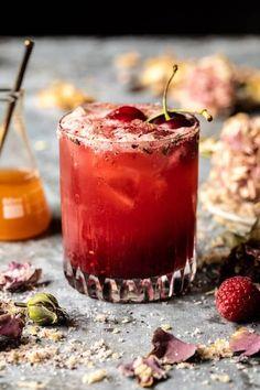 The Hermione Granger Cocktail. Harry Potter Cocktails, Yummy Drinks, Yummy Food, Refreshing Cocktails, Frozen Cherries, Half Baked Harvest, Brunch, Eat Smarter, Hermione Granger