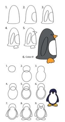 how to draw penguins.
