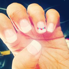 Simple shellac  4th of July nails done by me!!