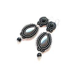 Pendientes en la técnica Soutache. de Soutache Jewelry
