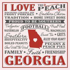 I Love Georgia Sign