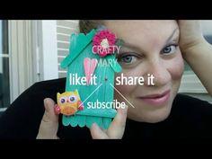 Birdhouse craft out of popsicle sticks - casetta per uccellini fatta con i bastoncini del gelati - YouTube