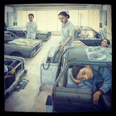 Tetsuya Ishida (石田 徹也 1973~2005) Hong Kong Art, Japanese Modern, Human Behavior, Surreal Art, Art Day, Caricature, Insta Art, Illustrators, Cool Pictures