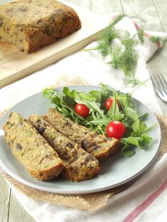 Red Lentil Loaf with Mushroom and Dill.  Vegetarian, Vegan, healthy.  Use gluten free bread crumbs to make this GF.
