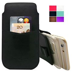 awesome uFashion3C [Wallet Card Slot Series] iPhone 6 4.7'' PU Leather Sleeve Pouch Case with Pull Tab (With Room for a Thin Case) -6 Colors- Retail Packaging (Black) Check more at http://cellphonesforsaleinfo.com/product/ufashion3c-wallet-card-slot-series-iphone-6-4-7-pu-leather-sleeve-pouch-case-with-pull-tab-with-room-for-a-thin-case-6-colors-retail-packaging-black/
