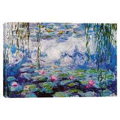 Evoke Impressionist style in your living room or office with this gorgeous canvas print, showcasing a colorful reproduction of Claude Monet's Nympheas