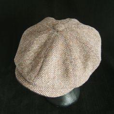 7655e7d9 Bespoke Harris Tweed Bakerboy/Flat Cap (brown herringbone.) Made to Measure,